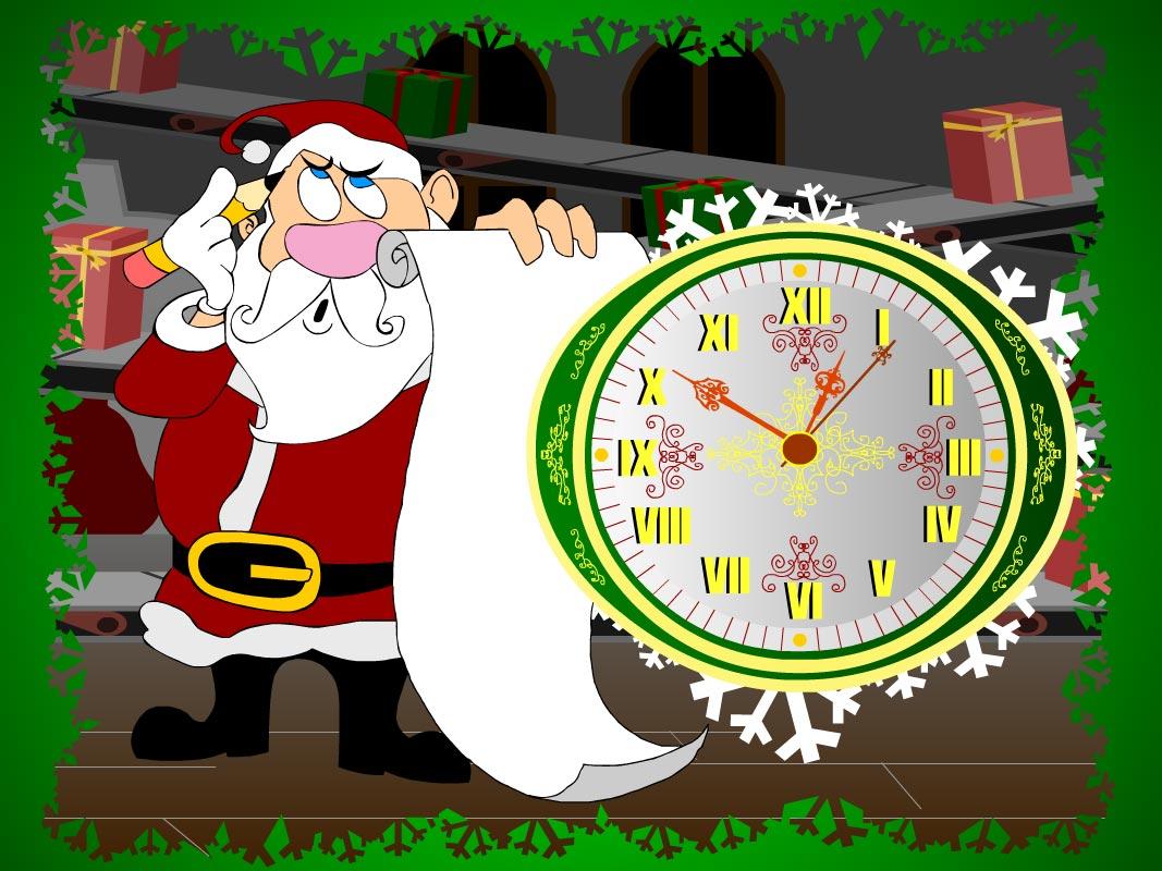 christmas clock countdown screensaver