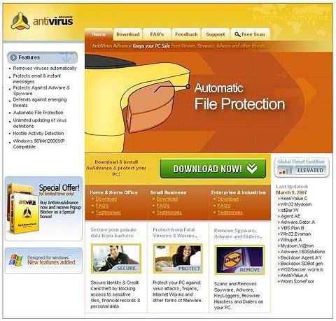 Anti Virus Advance 2011.00216 main scrennshot