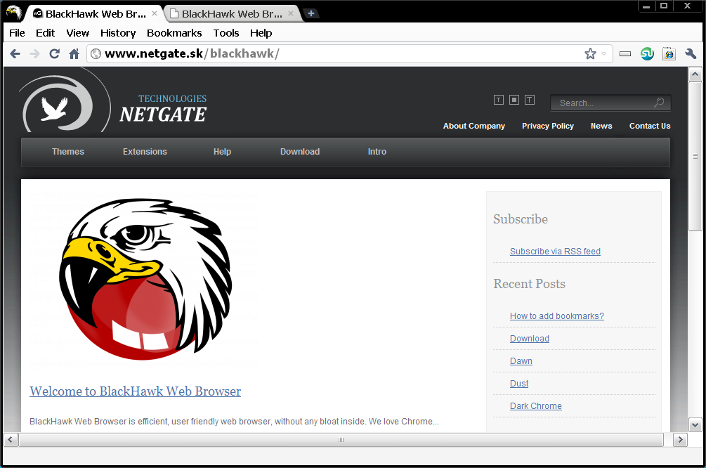BlackHawk Web Browser 2.0.305 main scrennshot
