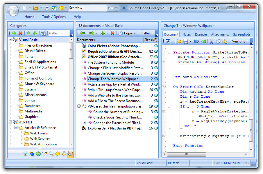 C Code Library screenshots - Windows 7 download - win7dwnld com