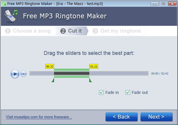 Free Ringtone Maker 2.5.0.569 main scrennshot