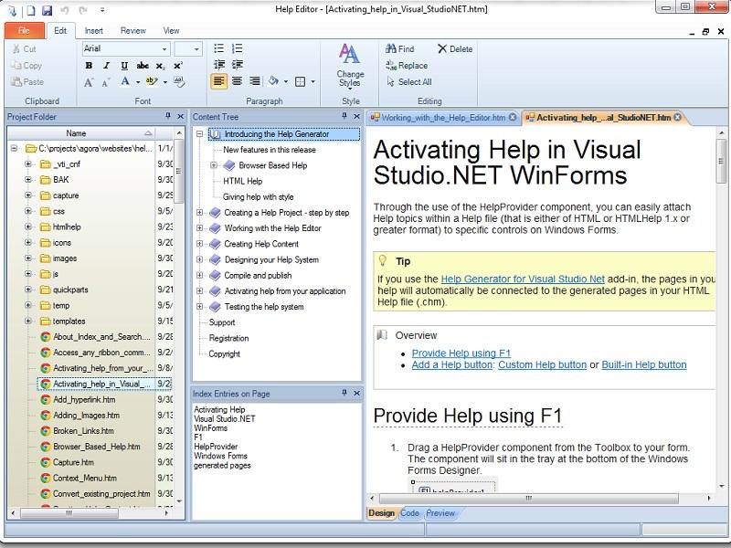 Help Generator for Visual Basic 6 0 screenshots - Windows 7