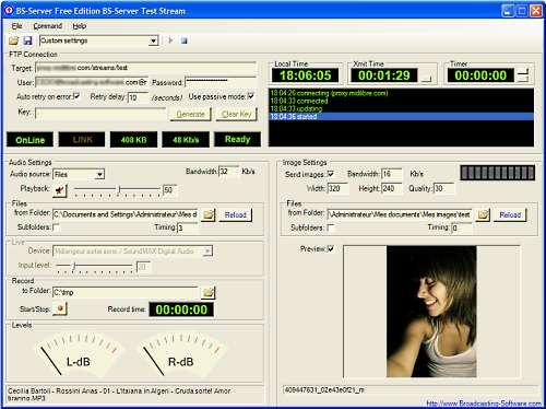 Internet Broadcasting Server - Free Ed. 2.0.3 main scrennshot