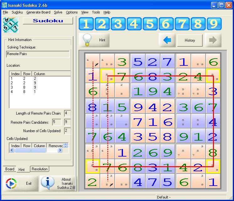 Isanaki Sudoku 2.6b main scrennshot
