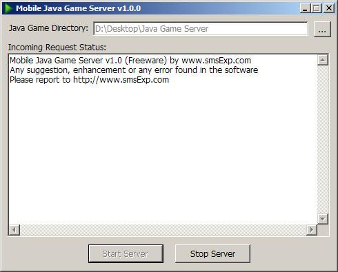 J2ME Server 1.0 main scrennshot
