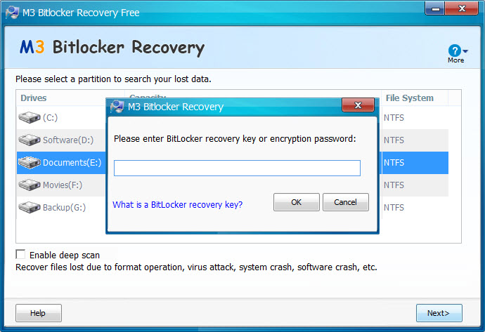 M3 Bitlocker Recovery screenshots - Windows 7 download - win7dwnld com