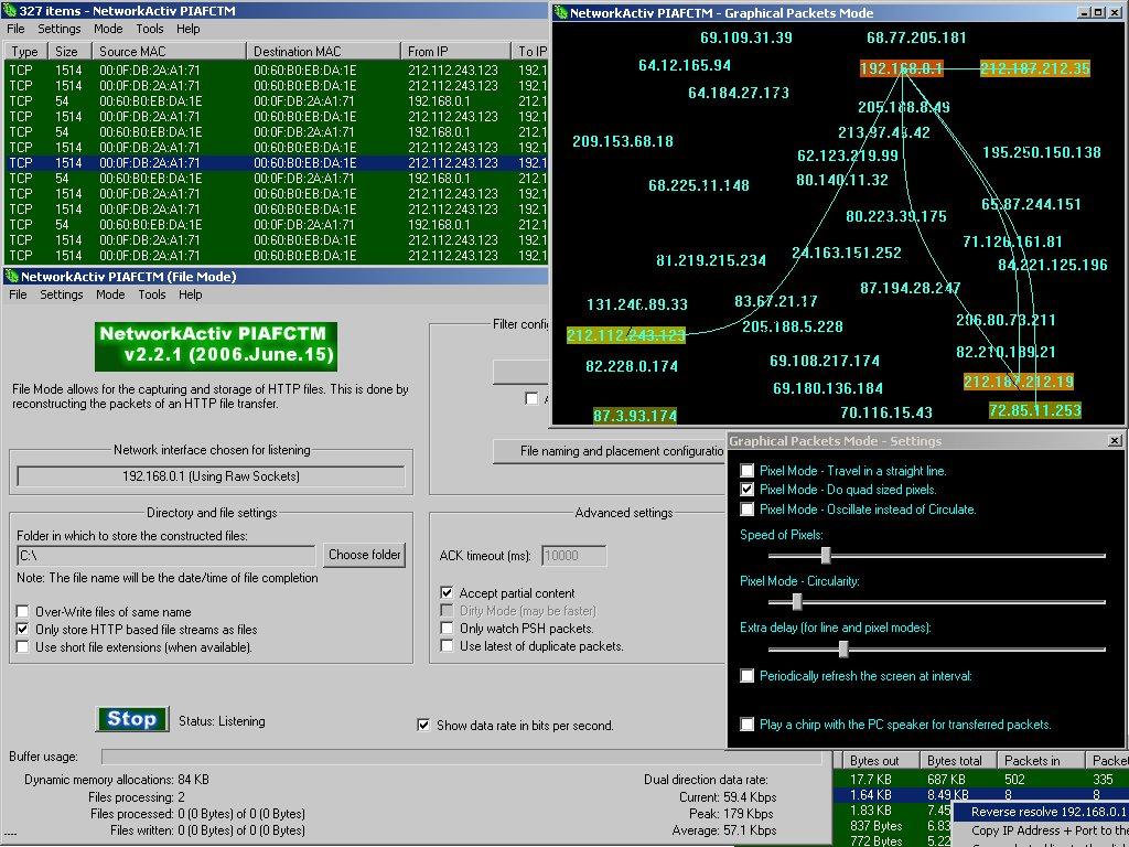 NetworkActiv PIAFCTM 2.2.2 main scrennshot