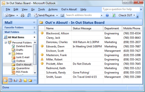 phone message in outlook