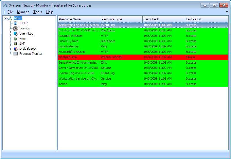 Overseer Network Monitor 5.0.197.25 main scrennshot