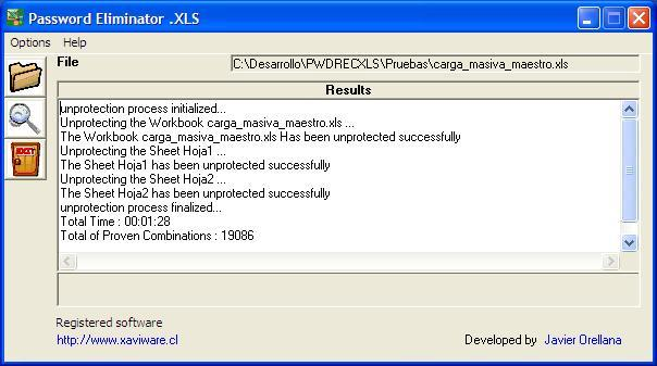 Password Eliminator .XLS 1.0.4 main scrennshot
