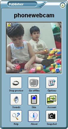 Phonewebcam Publisher 3.6 main scrennshot
