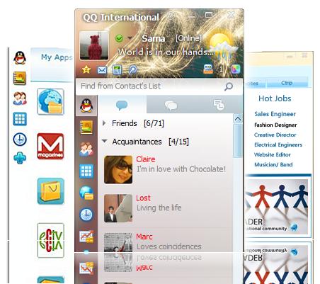 QQ International screenshots - Windows 7 download - win7dwnld.com