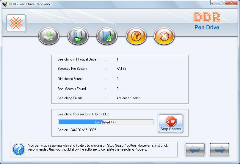 Recovery USB Drive 4.8.3.1 main scrennshot