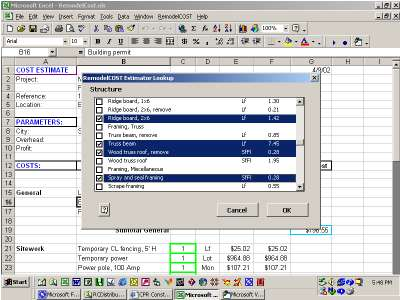 Remodelcost Estimator For Excel Screenshots Windows 7