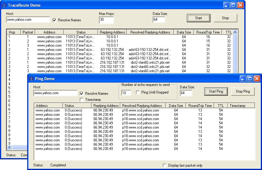 SkICMP ActiveX Control screenshots - Windows 7 download
