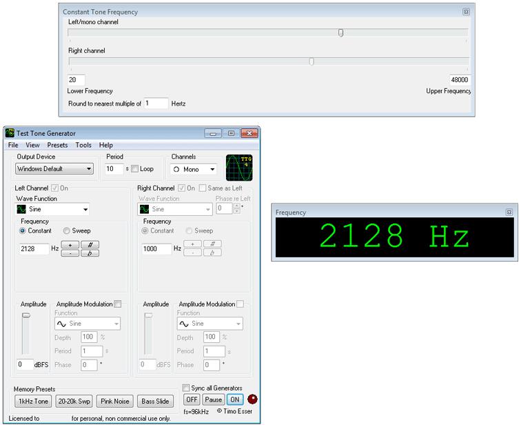 Test tone generator | descargar | otros software multimedia.
