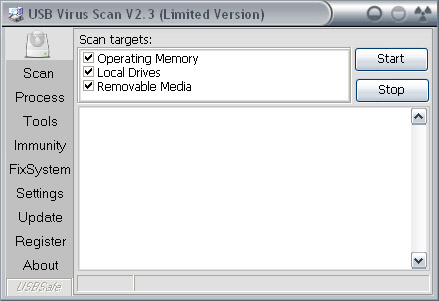 USB Virus Scan 2.42.0328 main scrennshot
