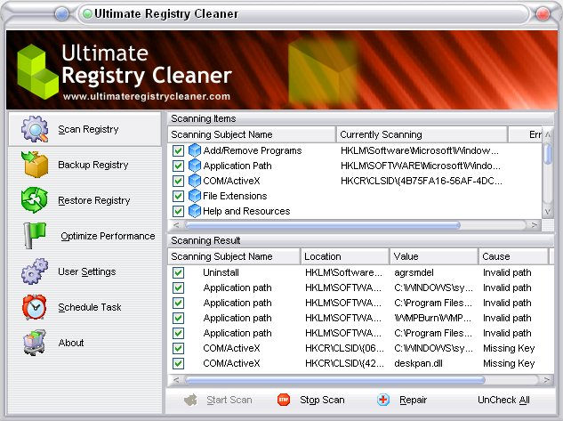 ultimate registry cleaner 12 0 screenshot clean your registry fix ...