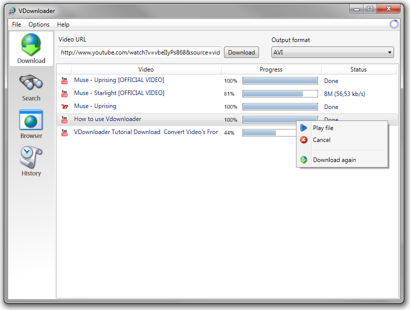 VDownloader 4.5.2780.0 main scrennshot