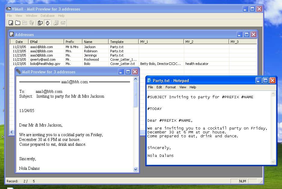 VIMail 1.0 main scrennshot