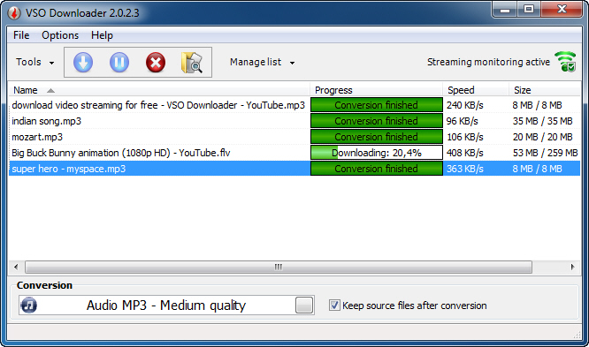 VSO Downloader 5.0.1.46 main scrennshot