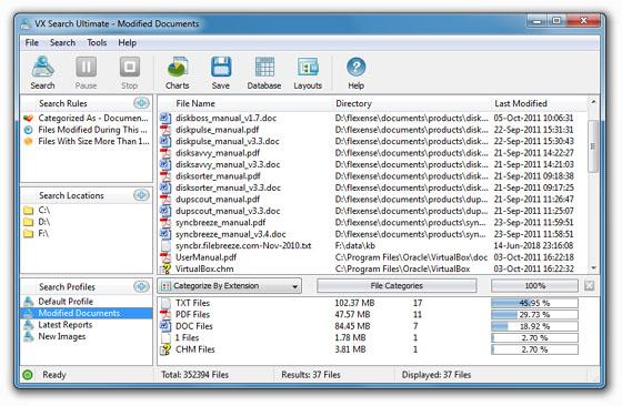 VX Search Pro 9.8.14 main scrennshot