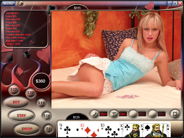 free flash strip poker