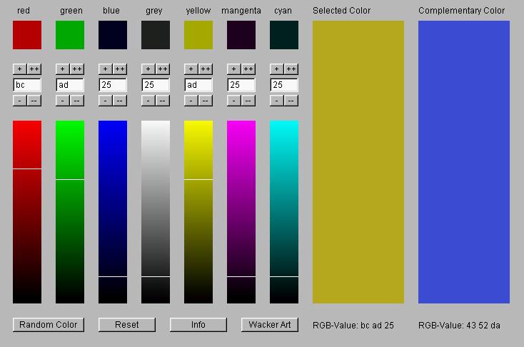 Wacker Art RGB Color Mixer 1.4 main scrennshot