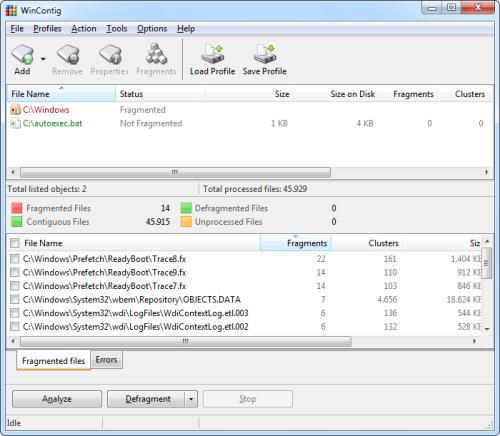 WinContig 2.0.0.2 main scrennshot