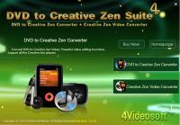 4Videosoft DVD to Creative Zen Suite 3.2.10 screenshot. Click to enlarge!