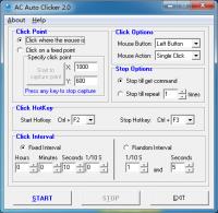 AC Auto Clicker 2.6.4 screenshot. Click to enlarge!