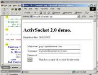 ActiveSocket Network Communication Toolkit 2.1 screenshot. Click to enlarge!