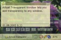 Actual Transparent Window 8.10.2 screenshot. Click to enlarge!