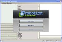 Advanced Robots.txt Generator 1.2 screenshot. Click to enlarge!