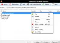Apowersoft Free Audio Recorder 3.0.7 screenshot. Click to enlarge!