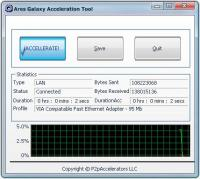 Ares Galaxy Acceleration Tool 3.4.0.0 screenshot. Click to enlarge!