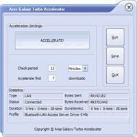 Ares Galaxy Turbo Accelerator 4.0.8 screenshot. Click to enlarge!