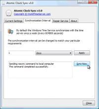 Atomic Clock Sync 3.5.0.0 screenshot. Click to enlarge!