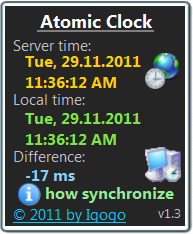 Atomic Clock 2.0 screenshot. Click to enlarge!