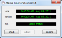 Atomic Time Synchronizer 10.0.0.1000 screenshot. Click to enlarge!