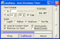 Auto Shutdown Timer - EasySleep 3.0.0 screenshot. Click to enlarge!