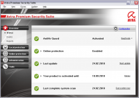 Avira Premium Security Suite 10.0.0.621 screenshot. Click to enlarge!