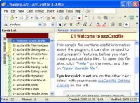AZZ Cardfile 4.1.16 screenshot. Click to enlarge!