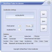 BearShare Turbo Accelerator 6.5.0 screenshot. Click to enlarge!