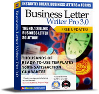 Best Business Letters 1.0 screenshot. Click to enlarge!