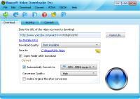 Bigasoft Video Downloader Pro 3.14.5.6352 screenshot. Click to enlarge!