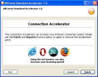 BitComet Download Accelerator 1.0 screenshot. Click to enlarge!