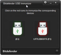 BitDefender USB Immunizer 2.0.1.8 screenshot. Click to enlarge!