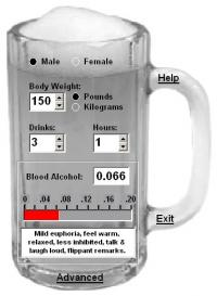 Cheers! Blood Alcohol Calculator 2.3 screenshot. Click to enlarge!