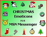Christmas MSN Emoticons 1.0 screenshot. Click to enlarge!